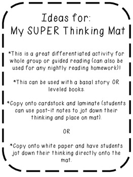 My SUPER Thinking Mat