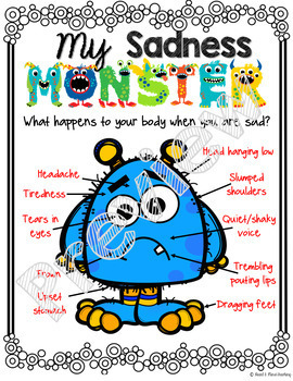 My Sadness Monster, a Social Emotional Learning activity