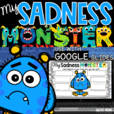 My Sadness Monster for Google Classroom Distance Learning