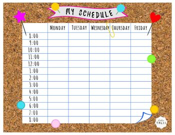 My Schedule - Printable