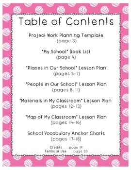 My School: A Project Based Unit for Pre-K/K/1st Grade