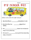 My School Bus - Free Handout