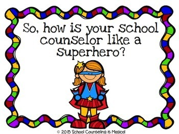 My School Counselor is Like a Superhero (School Counselor Introduction Lesson)