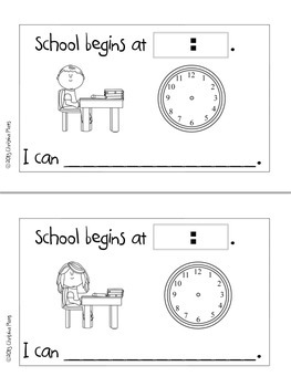 My School Day: A Personalized Book About Time