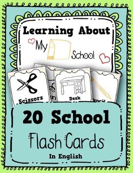My School Flash Cards