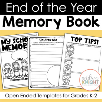 End of the year memory book free