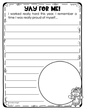 End of the year memory book {open-ended templates for k-2} by.