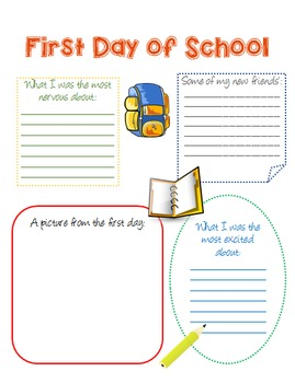 My School Memory Book - Elementary/Middle Grades -COLORFUL- End of Year Activity