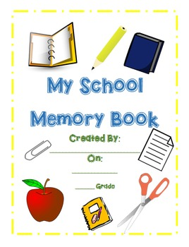 My School Memory Book - Elementary/Middle Grades -COLORFUL