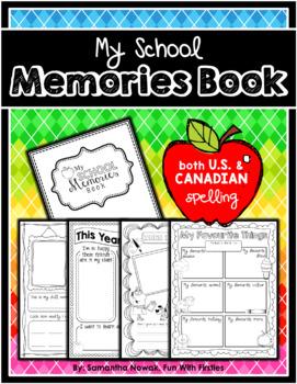 My School Memory Book (USA): documenting school memories a