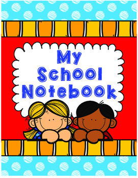 My School Notebook Blue and Red Teachers Planner