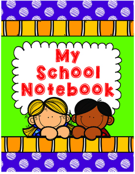My School Notebook Purple Teacher Planner