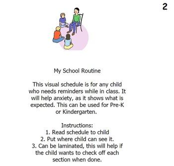 My School Routine Visual Schedule
