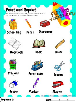 school supplies: School objects online worksheet |Esl Classroom Supplies