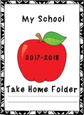 My School Take Home Folder 2017-2018