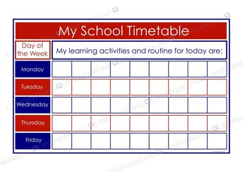 My School Timetable - Blue/Red