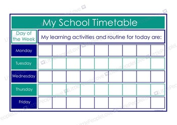 My School Timetable - Blue/Teal