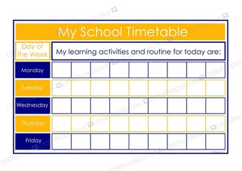 My School Timetable - Blue/Yellow