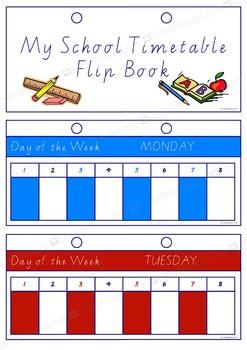 My School Timetable Flip Book