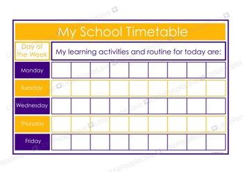 My School Timetable - Purple/Yellow