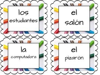 My School Vocabulary in Spanish