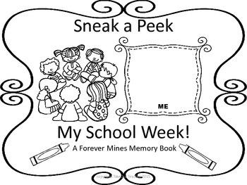 My School Week Memory Book (Back to School)