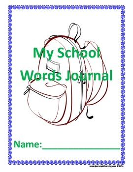 My School Words Journal