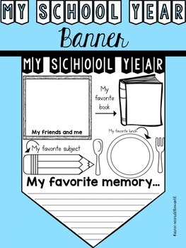 My School Year Banner for the End of the School Year