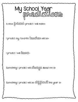 My School Year Predictions