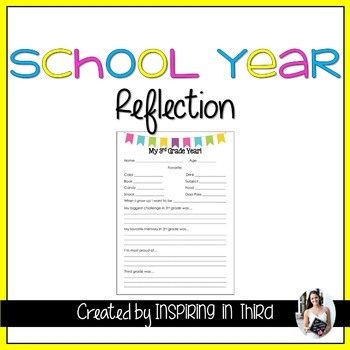 My School Year Reflection (Kindergarten-Fifth)