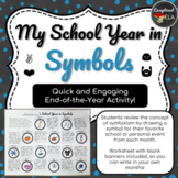 My School Year in Symbols: An End of the Year Activity for