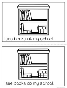 My School emergent reader {FREEBIE}