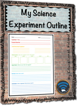My Science Experiment Outline Template