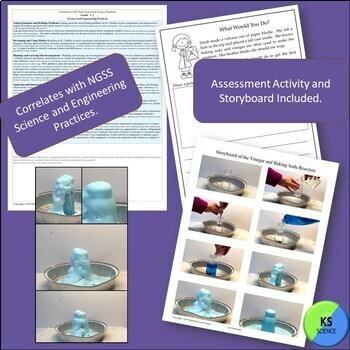 Soap and Suds:  Vinegar and Baking Soda Chemical Reaction Experiment