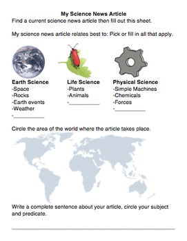My Science News Article