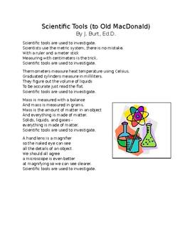 My Science Songbook - Scientific Tools