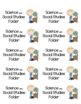 My Science and Social Studies labels