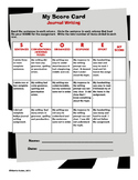 Journal Writing Rubric