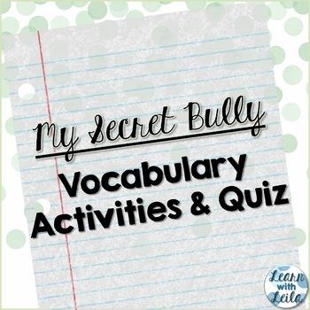 My Secret Bully Vocabulary Set