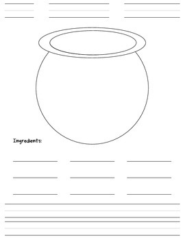 """My Secret Potion"" Cauldron Writing Activity"