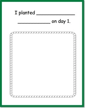 A Seed and Planting Writing Journal