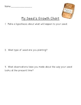 Plant Growth Chart Worksheets & Teaching Resources | TpT