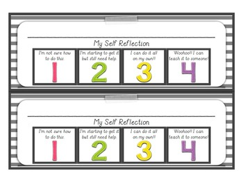 My Self Reflection Desktop Name Tags + POSTERS!!! Color & Black/White