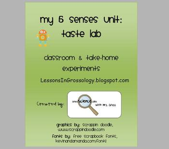My Sense of Taste Lab Experiment: Using our 5 Senses