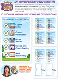 Visual Writer's Checklist Card and Poster   Printable & Di