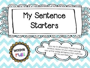 My Sentence Starters