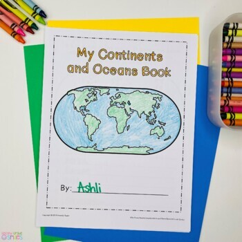 Continents And Oceans Geography Research Book Study Cards