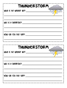 My Severe Weather Booklet