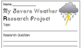 My Severe Weather Research Project Common Core Standards