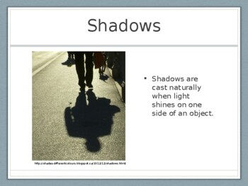 My Shadow & Me Presentation